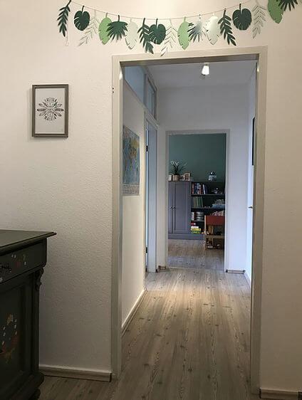 Psychotherapie Nadine Schäfer in Essen Altendorf für Kinder, Jugendliche und junge Erwachsene | Flur